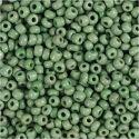 Rocaipärlor, Dia. 3 mm, stl. 8/0 , Hålstl. 0,6-1,0 mm, grön, 500 g/ 1 förp.