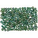 Rocaipärlor, Dia. 3 mm, stl. 8/0 , Hålstl. 0,6-1,0 mm, grönolja, 500 g/ 1 förp.
