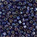 Rocaipärlor, Dia. 4 mm, stl. 6/0 , Hålstl. 0,9-1,2 mm, blåolja, 25 g/ 1 förp.