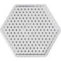Pärlplattor, hexagon, JUMBO, transparent, 1 st.