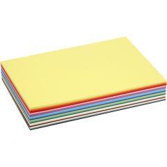 Creativ kartong, A4, 210x297 mm, 180 g, mixade färger, 30 mix. ark/ 1 förp.