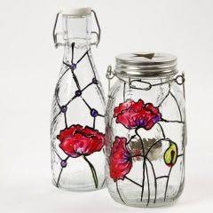Ljusglas med Tiffanydeko