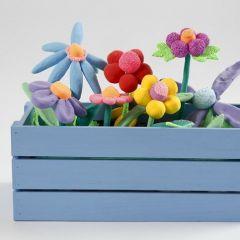 Balkonglåda med blommor av Silk Clay och Foam Clay