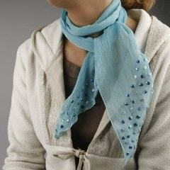 Crinckle chiffong scarf