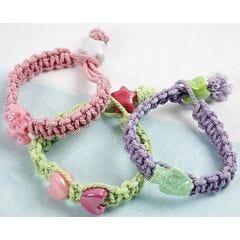 Knutna pastellarmband