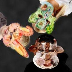 Pappmasker med djuransikten