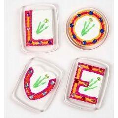 Badges med rhinsten till kylskåpet
