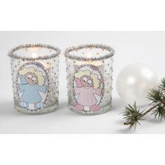 Ljusglas med ängel