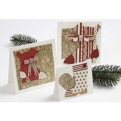 Kort med julstövlar