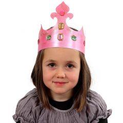 Krona av papp med rhinstenar