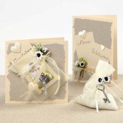 Romantiska bröllopskort