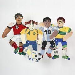 Fotbollsspelare av målarduk