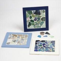 Collageramar med mosaik