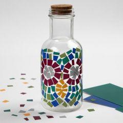 Glasflaska med Color Decor