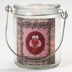 Ljusglas med papperstejp