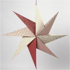 Origamistjärna i handgjort papper