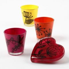 Glas, dekorerad med Glass Ceramic