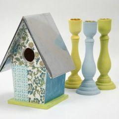 Fågelhus med handgjorda papper