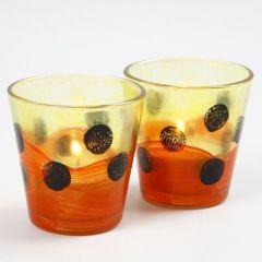 Ljusglas med glasfärg