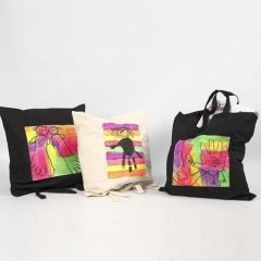 Textilkasse, dekorerad med Textil Color, neon