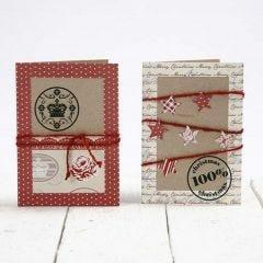Kvistkort, dekorerad med papper från Vivi Gade Design