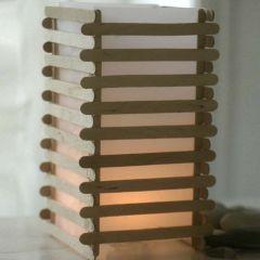 Japansk lykta av glasspinnar i lameller