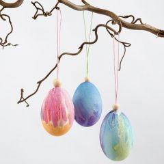 Ägg, målade med vattenfärger