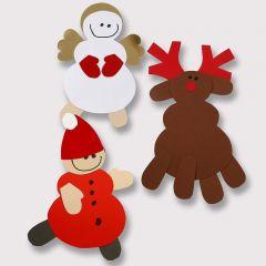 Renar och andra julfigurer av kartong