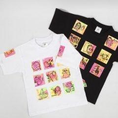 T-shirt med transfertryckta konstverk