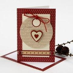 Julkort med presentetiketter och dekoration från Vivi Gade