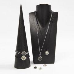 Smycken med cabochoner i ledpärlor