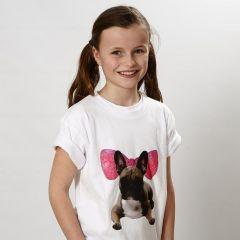 T-Shirt med transfertryck och grafik med tusch