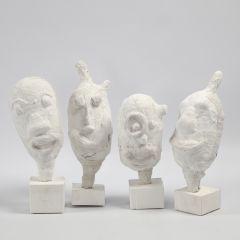 Skulpturer av ballonger med gipsgaze