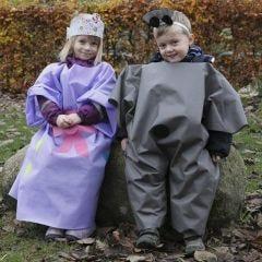 Utklädningskläder för utomhusbruk, gjorda av imiterat tyg