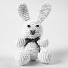 Virkad kanin av bomull