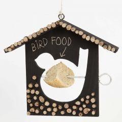 Fågelbord, målad och dekorerad med träskivor