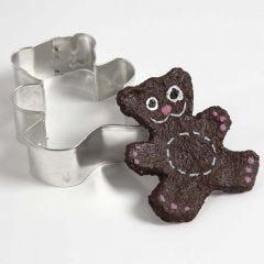 Björn av pulp gjord med kakform
