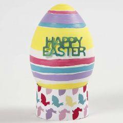 Naturtrogna ägg av vit plast, målad och dekorera
