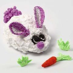 Kanin som rörlig figur av Foam Clay på mekanisk del