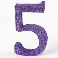Bordsnummer målad och dekorerad med glitter