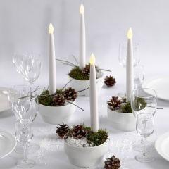 Juldekoration med LED stearinljus