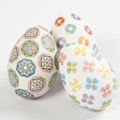 Ägg dekorerad med washitejp