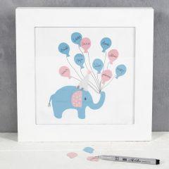 Gästtavla med elefant
