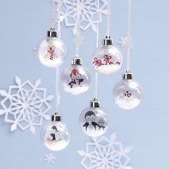 Julkula med invändigt motiv av polardjur till färgläggning.