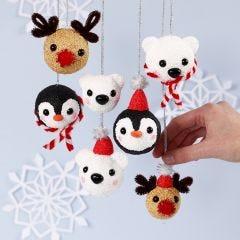 Polardjur som julkulor av Foam Clay och Silk Clay