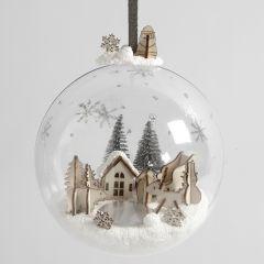 Julkula med minilandskap med Foam Clay och träfigurer