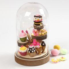 Kupa med mini-cupcakes som invändig dekoration