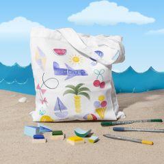 Textilkasse med sommartryck