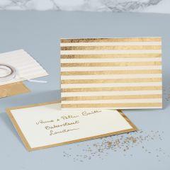 Pärlemorskort med guldränder av dekorationsfolie
