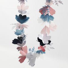 Blomsterranka i kartong och pergamentpapper
